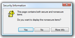 Secure and NonSecure Items Security Dialog (IE Only)